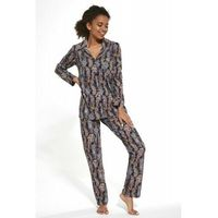 Bawełniana piżama damska Cornette 482/264 Aline granatowa