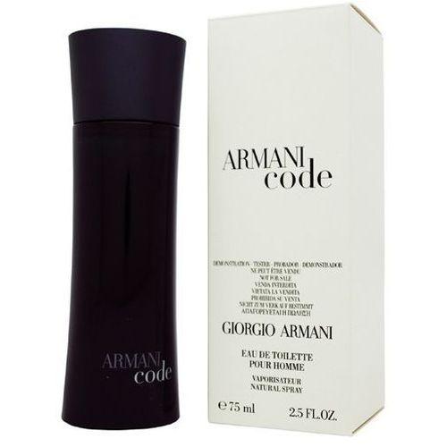 Giorgio armani black code, woda toaletowa – tester, 75ml