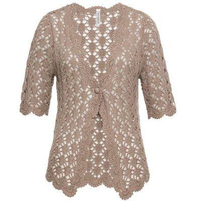 5914846c1dc361 swetry damskie sweter rozpinany bonprix ciemnoszmaragdowy w ...
