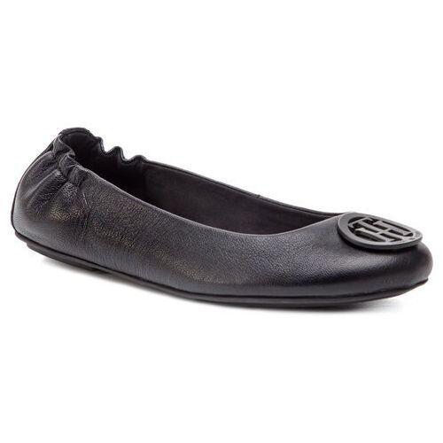 8b18803cc2124 Tommy hilfiger Baleriny - flexible leather ballerina fw0fw04073 black 990 -  fotografia produktu