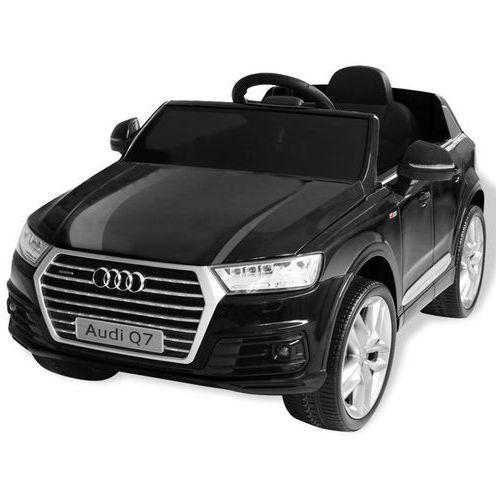 vidaXL Elektryczny samochód dla dzieci, czarne Audi Q7, 6 V