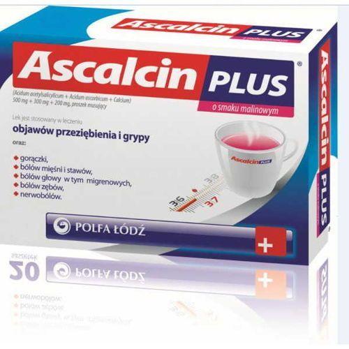 Ascalcin plus o smaku malinowym x 10 saszetek marki Polfa łódź
