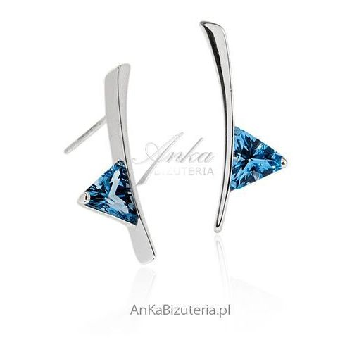 Eleganckie kolczyki srebrne cyrkonia Anka biżuteria