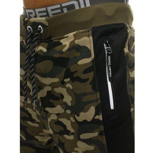 8fa05f78853f7d ... Spodnie męskie dresowe joggery moro-zielone Denley QN271, dresowe -  Zdjęcie Spodnie męskie dresowe ...