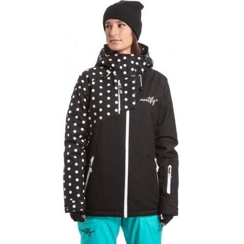 damska kurtka narciarska deborah jacket black/white dot xxs marki Meatfly