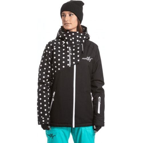 MEATFLY damska kurtka narciarska Deborah Jacket Black/White Dot XS