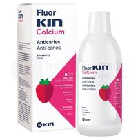FluorKIN Calcium Mouthwash 500ml - płukanka dla dzieci o smaku truskawkowym z fluorem