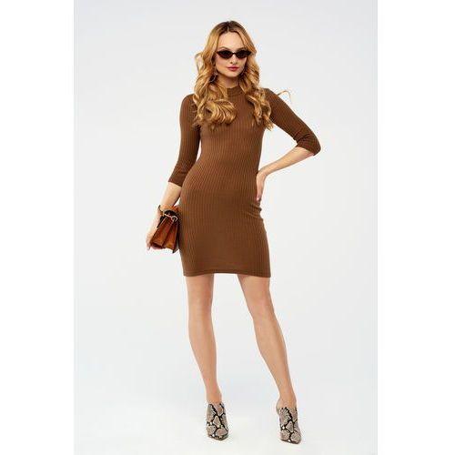 Sugarfree Sukienka apatite w kolorze karmelowym