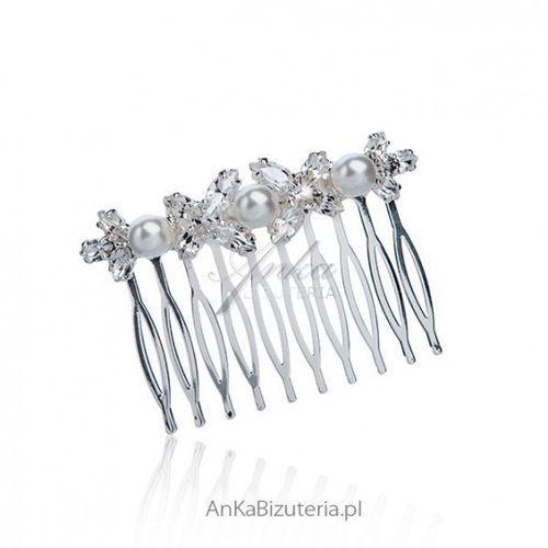 Ankabizuteria.pl biżuteria do włosów ślubna grzebień do włosów marki Anka biżuteria