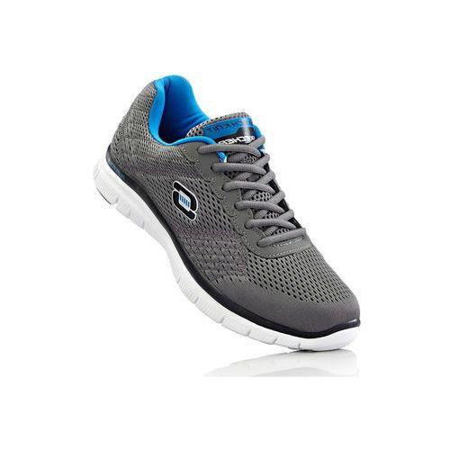 Sneakersy Skechers z pianką Memory bonprix szaro-turkusowy, kolor szary