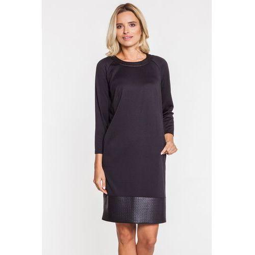 45b5524556 Sukienka ze wstawką z eko-skóry - Metafora - Galeria Sukienka ze wstawką z  eko