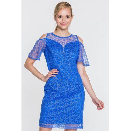 33d405952f Koronkowa sukienka w niebieskim kolorze (Semper) - sklep ...
