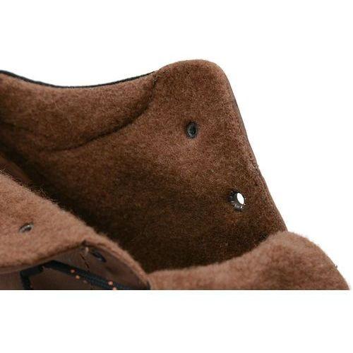 e44ac5db Badura Trzewiki zimowe 4654-074 felpa brązowe botki ocieplane - brązowy -  foto produktu