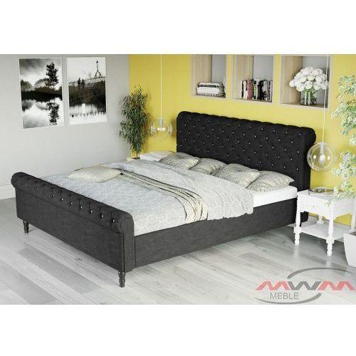 łóżko Tapicerowane Do Sypialni 180x200 1130 Czarne Meblemwm