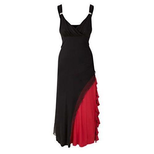 Bonprix Sukienka z koronką kremowobiały