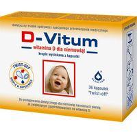 Kapsułki D-VITUM witamina D dla niemowląt x 36 kapsułek twist-off