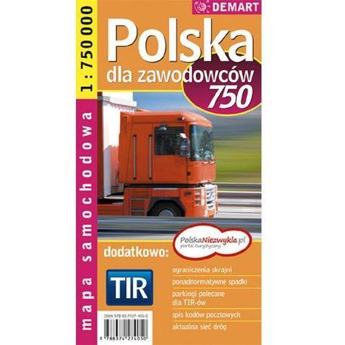 Polska Tir 1:750 000 Mapa Samochodowa Dla Zawodowców (2 str.)