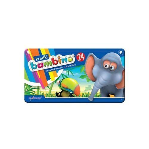 Kredki bambino 24 kolory w metalowym pudełku marki Majewski