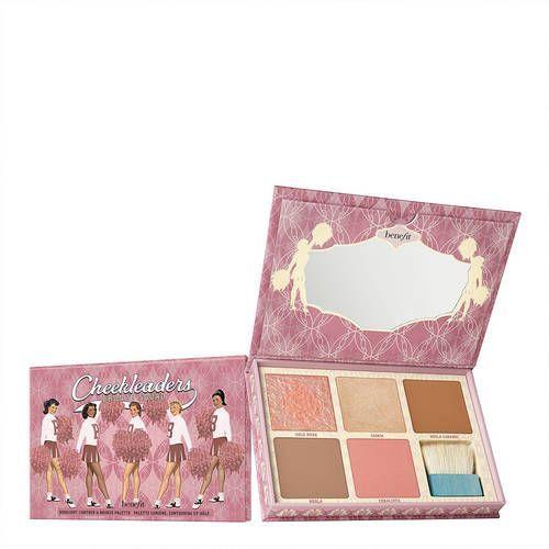 Benefit cosmetics Cheekleaders bronze squad - paleta bronzerów i rozświetlaczy (0602004107039)