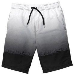 Bermudy plażowe w cieniowanym kolorze bonprix biało-czarny z nadrukiem, w 7 rozmiarach