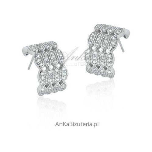 Anka biżuteria Kolczyki srebrne z cyrkoniami