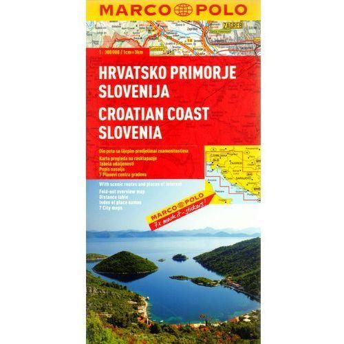 Wybrzeże Chorwacji, Dalmacja 1:300 000. Chorwacja, Słowenia. Mapa samochodowa, składana. Marco Polo, oprawa broszurowa