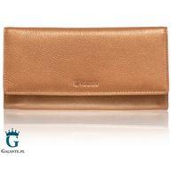 Duży portfel damski valentini metallic miedziany 123m-277