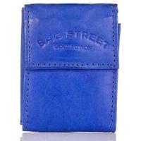 Niebieski portfel skórzany na klucze monety