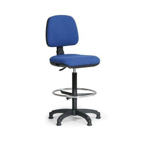 B2b partner Podwyższone krzesło biurowe milano z podnóżkiem - niebieske
