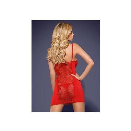 Koszulka damska ze stringami heartina chemise czerwony marki Obsessive