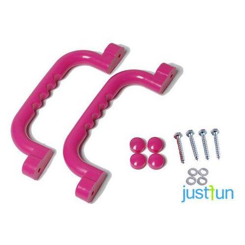 Zestaw rączek 240x75 mm - różowy marki Just fun