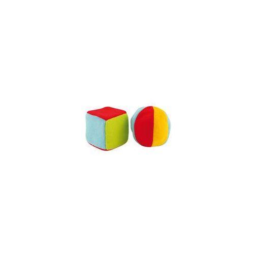 Canpol babies Pluszowe zabawki z dzwoneczkiem pi�ka + kostka canpol