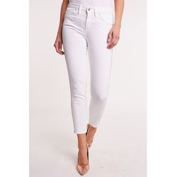Białe spodnie z lampasem SABRINA