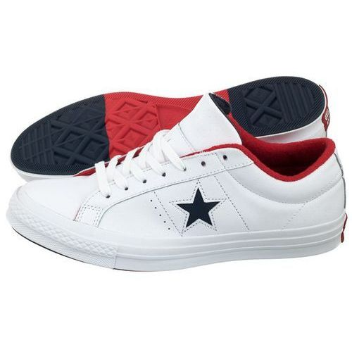 Buty Converse One Star OX White/Navy/Red 160555C (CO347-a), kolor biały