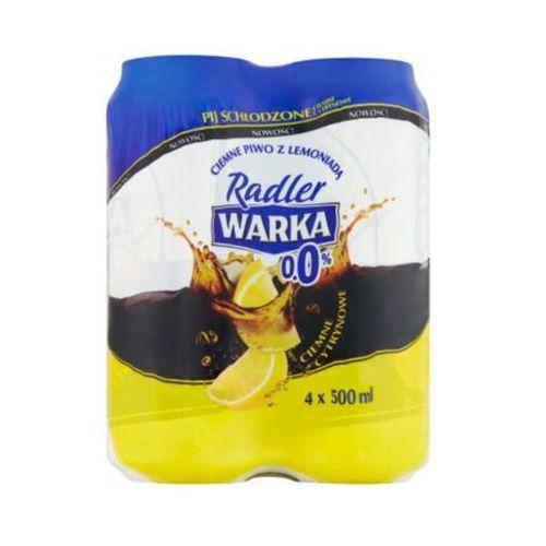 WARKA 4x500ml Radler Piwo bezalkoholowe ciemne cytrynowe Puszka