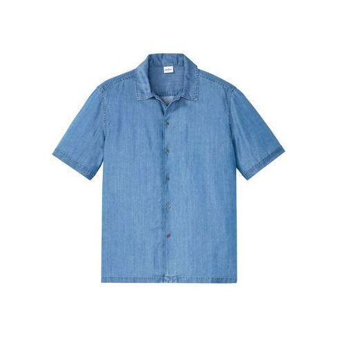 """Bonprix Koszula z krótkim rękawem, przyjazna dla środowiska,tencel ™ niebieski """"bleached"""""""