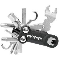 Author 10-000045 zestaw narzędzi/ kluczy (scyzoryk) toolbox 10 10 w 1 czarno-srebrne