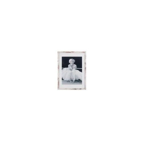 Rama 40x50 Cm Biała Przecierana Drewniana Galeria Plakatu
