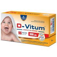 Kapsułki D-VITUM 800 j.m. Witamina D dla niemowląt x 96 kapsułek twist-off