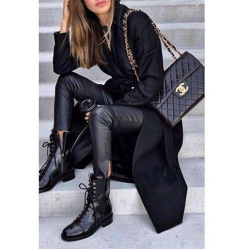 Płaszcz damski LINESA BLACK, kolor czarny