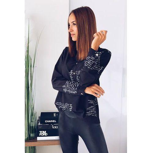 Damska bluzka koszulowa SENATA BLACK, 36-42