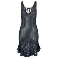 Sukienka plażowa szydełkowa bonprix czarny