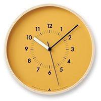 Zegar Awa Soso pomarańczowa tarcza, kolor pomarańczowy