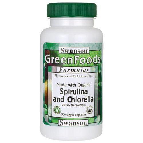 Swanson health products Swanson spirulina & chlorella organiczna - (90 kap)