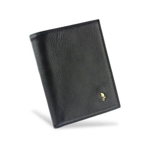 8a6c19acea687 Portfel męski skórzany czarny z wyciąganą wkładką dwuczęściowy 1700p marki  Puccini