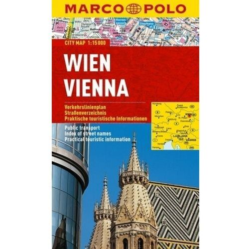 Wiedeń / Vien 1:15 000. Laminowany plan miasta. Marco Polo, Marco Polo