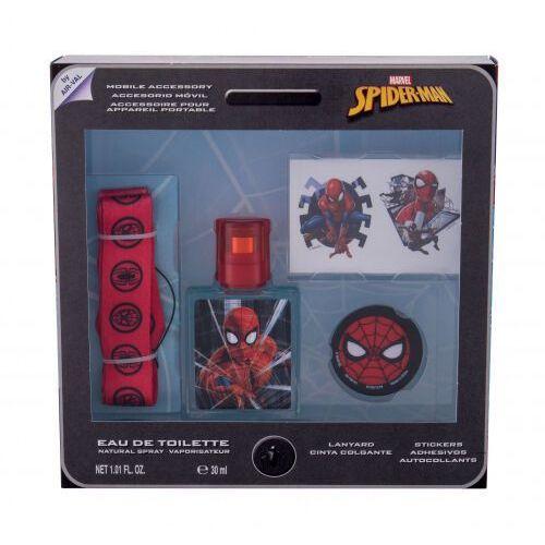 Marvel Spiderman zestaw EDT 30 ml + naklejki + breloczek + uchwyt na telefon dla dzieci - Super upust