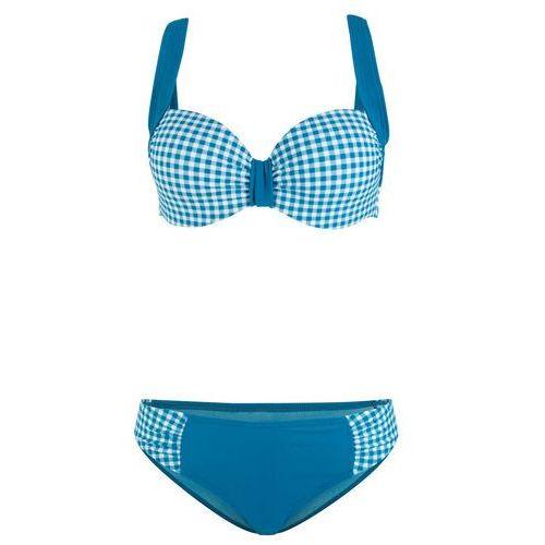 fff4e8360feac4 Zobacz w sklepie Biustonosz bikini bandeau bonprix turkusowy, góra