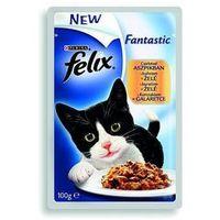 Felix Fantastic Karma dla kotów 100g saszetka z kurczakiem w galaretce