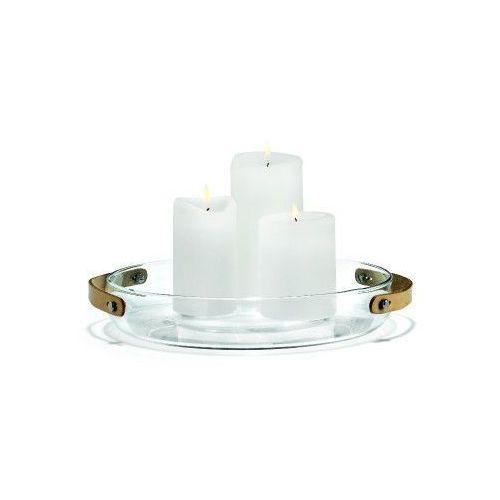 Szklana patera na świece z uchwytem, 24 cm - HolmeGaard